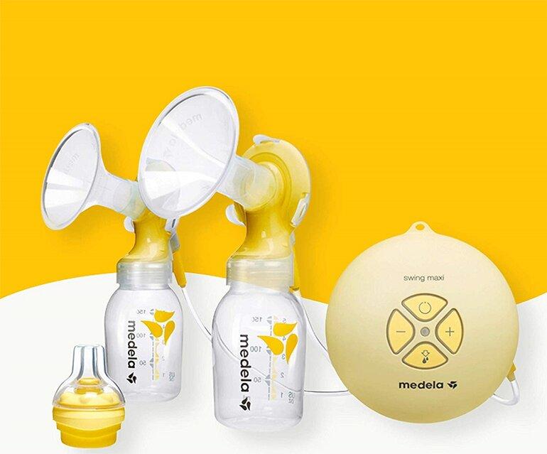 Trọn bộ máy hút sữa điện đôi MEDELA swing maxi tiện lợi