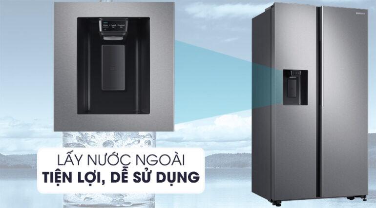 Tủ lạnh Samsung Side by Side 617 lít RS64R5101SL/SV màu xám bạc - Giá tham khảo khoảng 30 triệu vnđ