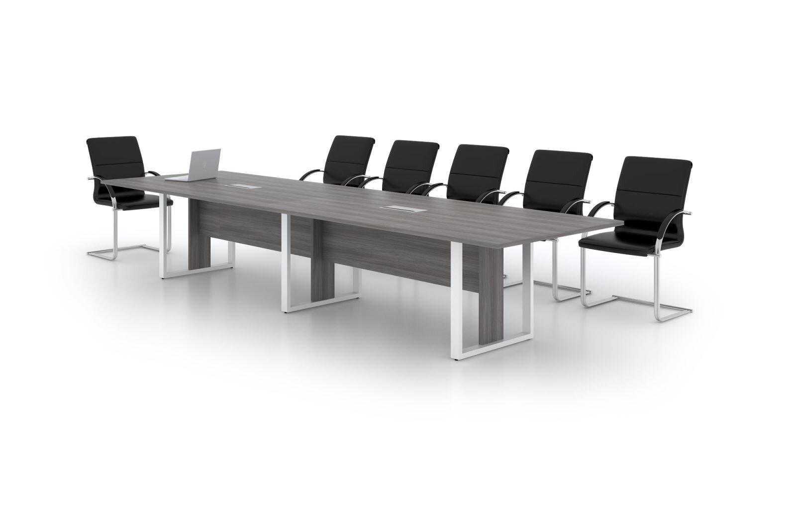 Bàn họp chân sắt có thiết kế hiện đại, phù hợp với nhiều văn phòng khác nhau
