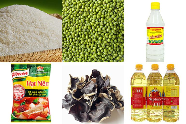 Các thực phẩm đồ khô tại nông sản Dũng Hà