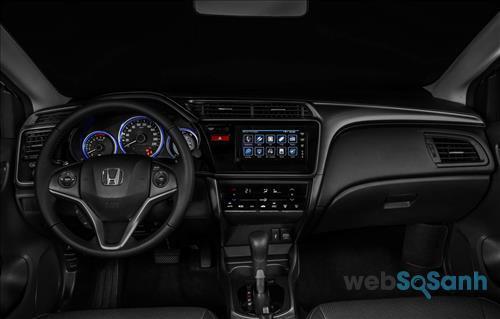 Bảng điều khiển trên Honda City 2016