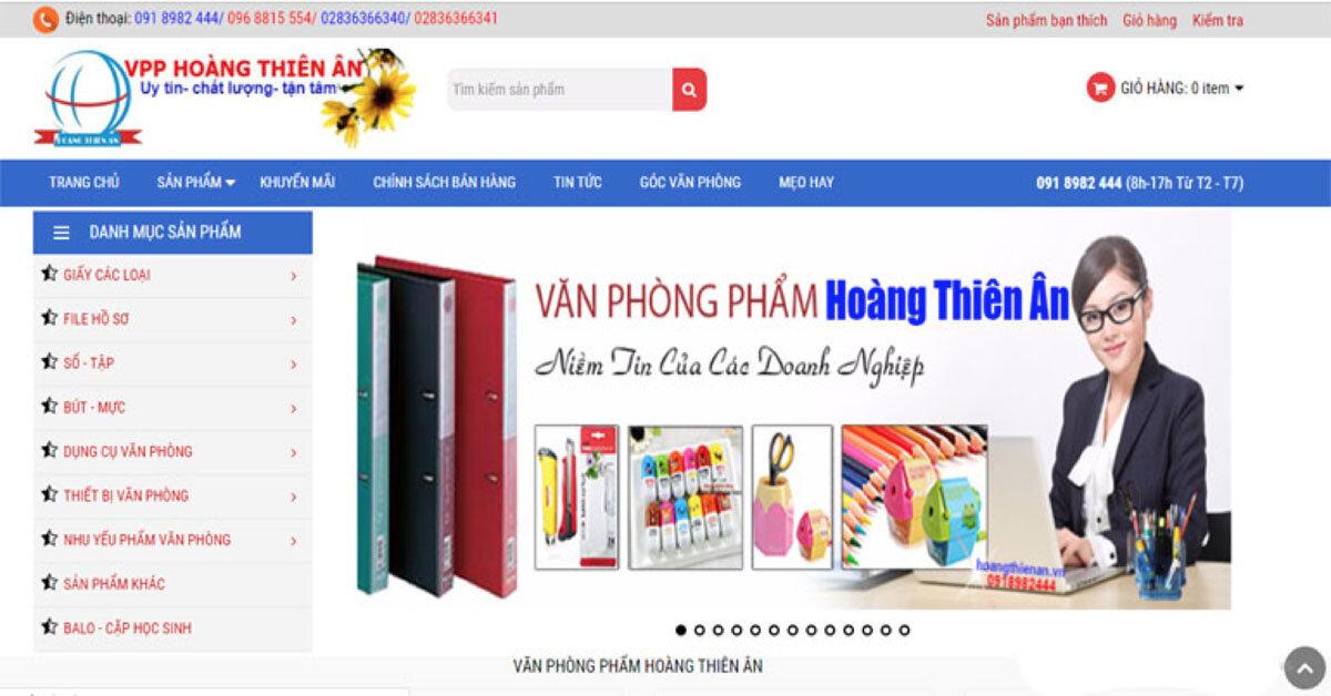 Hoàng Thiên Ân: địa chỉ mua văn phòng phẩm online uy tín giá rẻ tại thành phố Hồ Chí Minh.