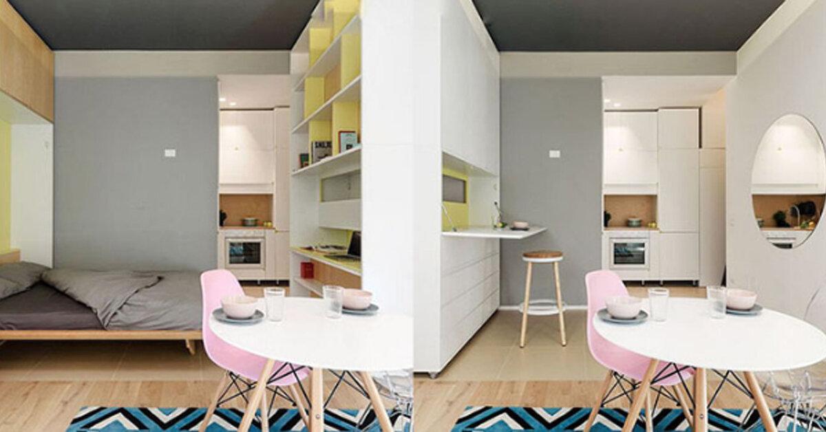Học hỏi cách thiết kế không gian căn hộ vỏn vẹn 30m2 ở Ý đẹp không kém gì căn hộ cao cấp