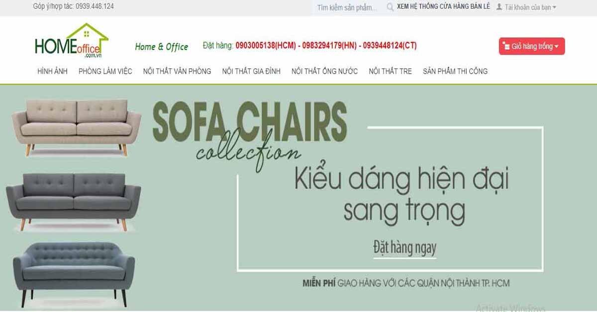 Homeoffice.com.vn – địa chỉ mua nội thất online uy tín, giá cực tốt trên thị trường