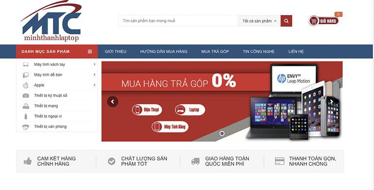 Minh thành laptop chuyên cung cấp các sản phẩm laptop chinh hãng giá rẻ chất lượng cao
