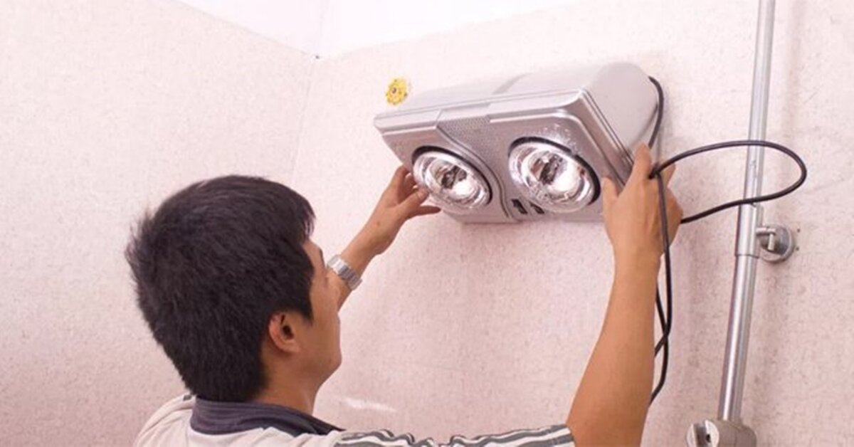 Hướng dẫn cách lắp đặt đèn sưởi nhà tắm