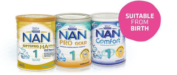 Hướng dẫn cách pha sữa bột Nan Nga số 1,2,3,4 cho bé