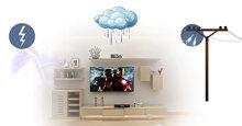 Hướng dẫn cách phòng tránh smart tivi bị sét đánh vào mùa mưa bão