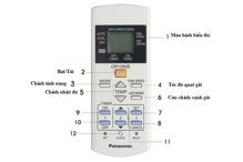 Hướng dẫn cách sử dụng điều khiển điều hòa Panasonic