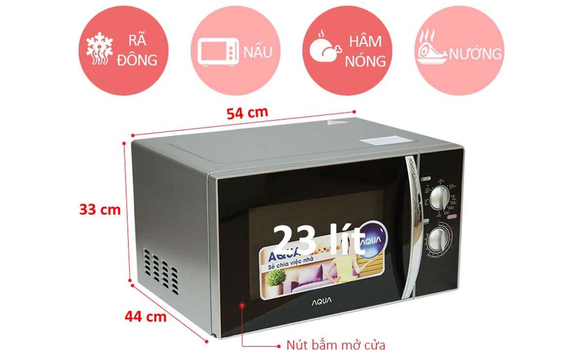 Hướng dẫn cách sử dụng lò vi sóng Aqua giá rẻ để hâm nóng, rã đông thực phẩm