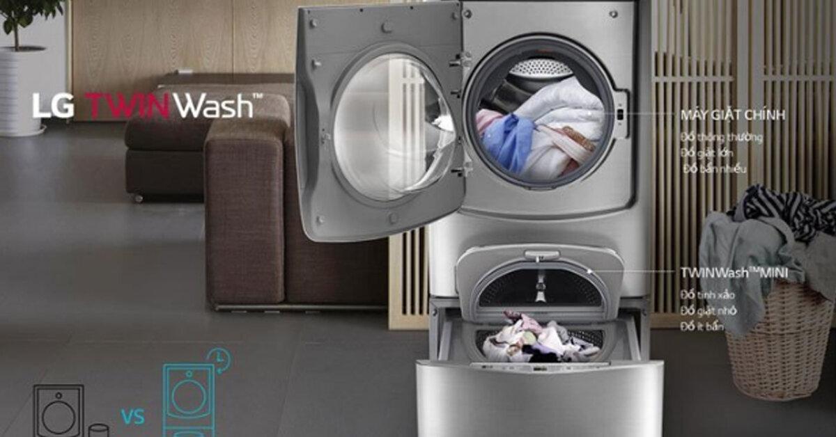 Hướng dẫn cách sử dụng máy giặt lồng đôi LG Twin Wash F2721HTTV & T2735NWLV