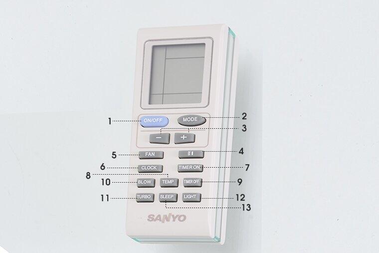 Hướng dẫn cách sử dụng remote điều khiển từ xa điều hòa Sanyo