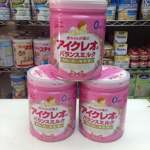 Hướng dẫn chi tiết cách pha sữa bột Glico Icreo số 0 và số 9 Nhật Bản