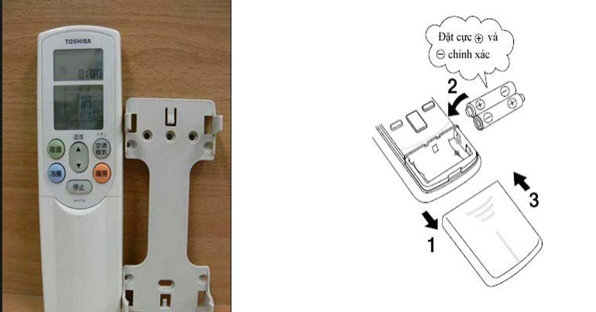 Hướng dẫn chi tiết cách thay pin remote điều khiển từ xa điều hòa Toshiba