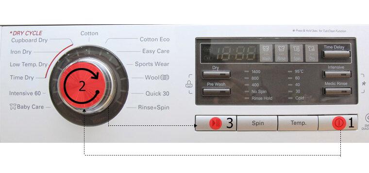 Hướng dẫn sử dụng bảng điều khiển máy giặt sấy LG WD-18600
