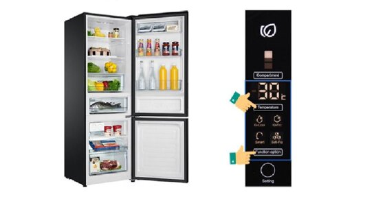 Hướng dẫn sử dụng bảng điều khiển tủ lạnh Aqua ngăn đá dưới