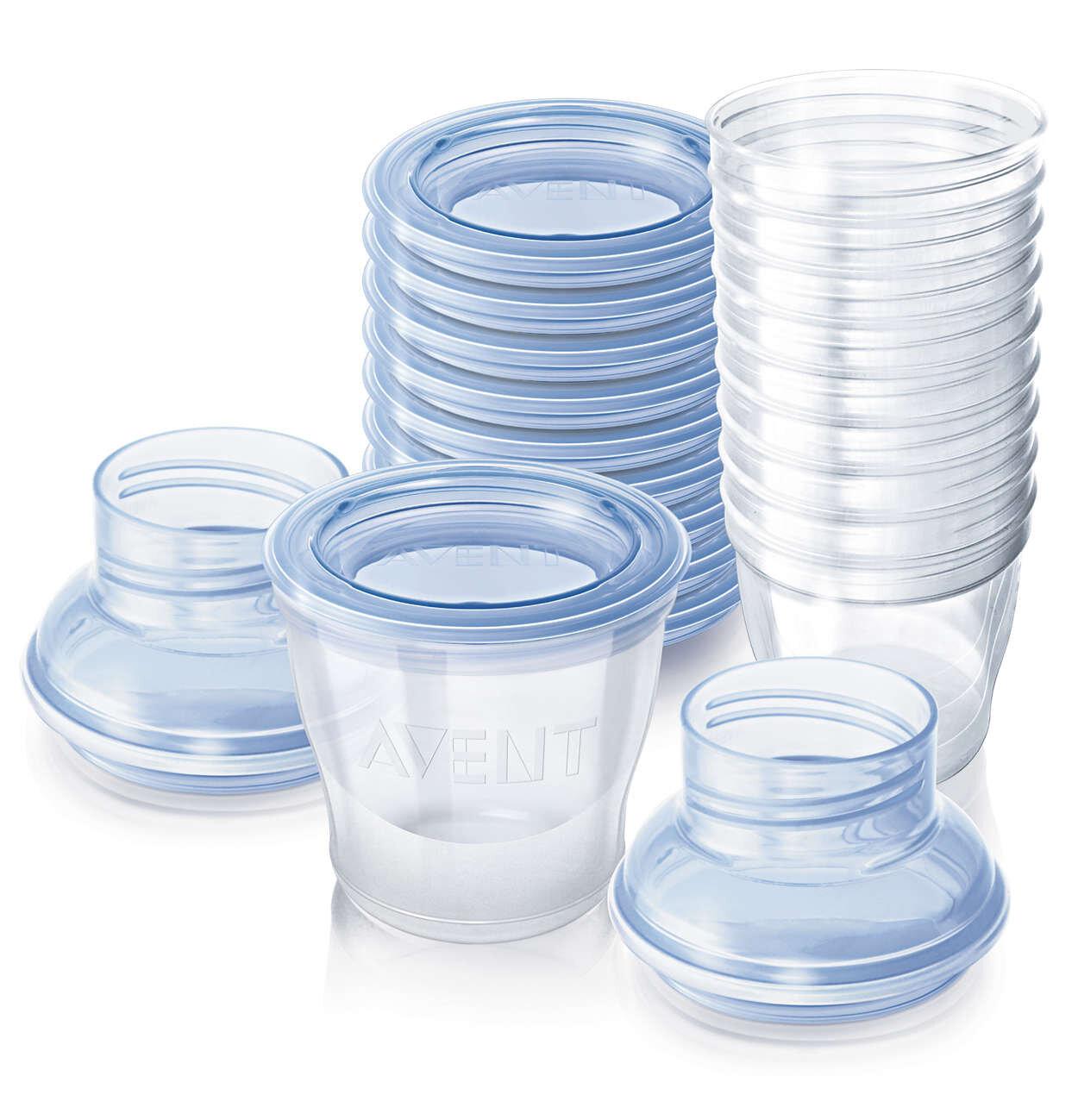 Hướng dẫn sử dụng bộ cốc trữ sữa Philips AVENT SCF612/10