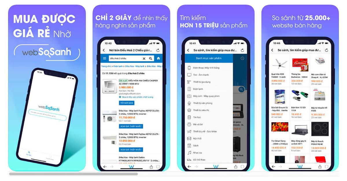 Hướng dẫn tải app so sánh mua rẻ trên điện thoại iPhone để săn khuyến mãi khủng lớn nhất năm 2018