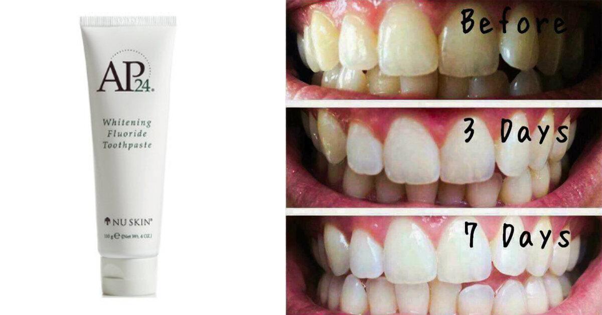 Hút thuốc vàng răng dùng kem đánh răng ap24 của Mỹ có trắng không ?