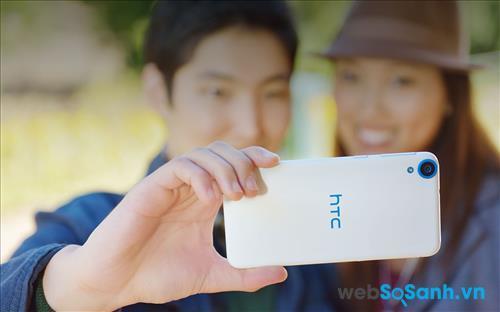 Desire 820G Plus có sự nâng cấp đáng kể với độ phân giải 8MP sẽ hỗ trợ tốt cho việc chụp ảnh selfie cá nhân hoặc theo nhóm.