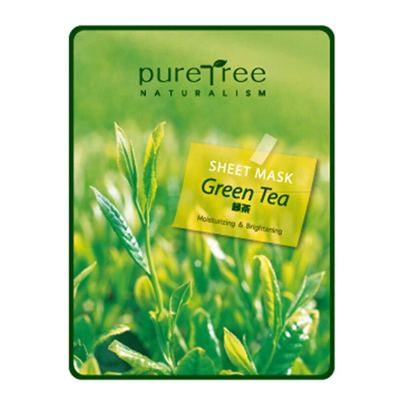 Mặt nạ trà xanh Puretree Greentea Sheet Mask chống lão hóa, ngăn ngừa mụn