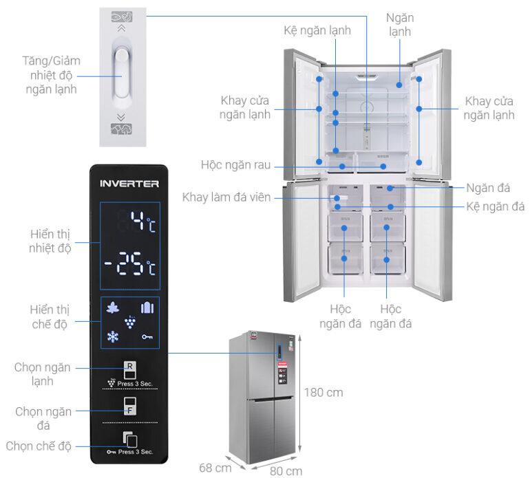 Tủ lạnh 4 cánh Sharp