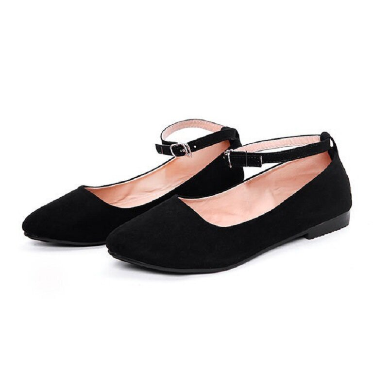 giày búp bê đen