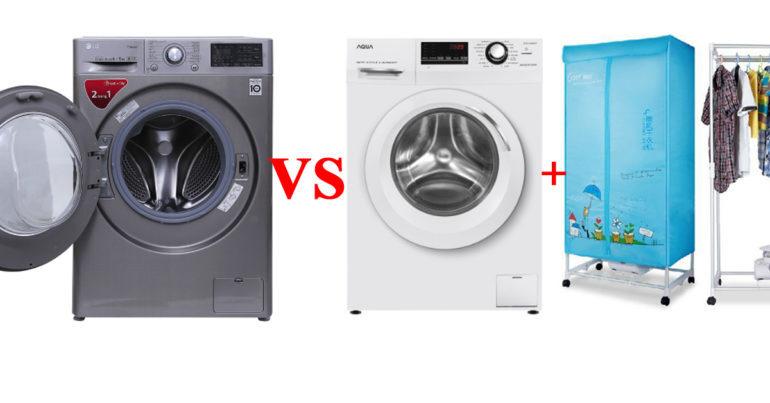 Nên mua máy giặt sấy 2 in 1 hay máy giặt riêng và máy sấy riêng thì tốt hơn ?