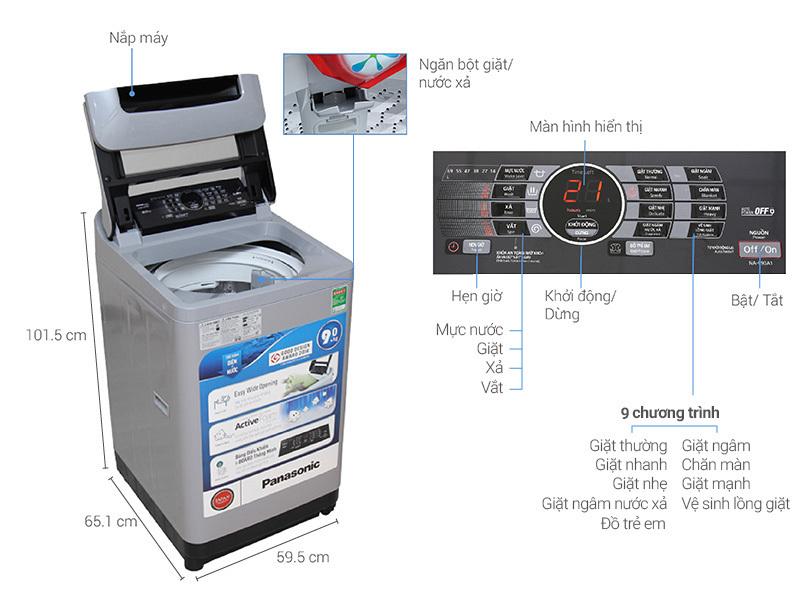 máy giặt Panasonic 9kg giá bao nhiêu tiền