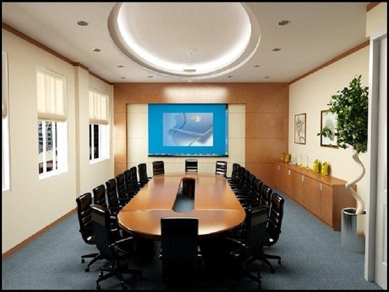Bàn họp hình oval được nhiều doanh nghiệp lựa chọn