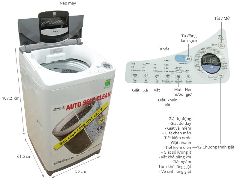 máy giặt Hitachi 9kg giá bao nhiêu tiền