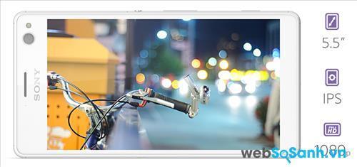 Điện thoại Sony Xperia C4 Dual đi kèm với màn hình lớn kích thước 5,5 inch