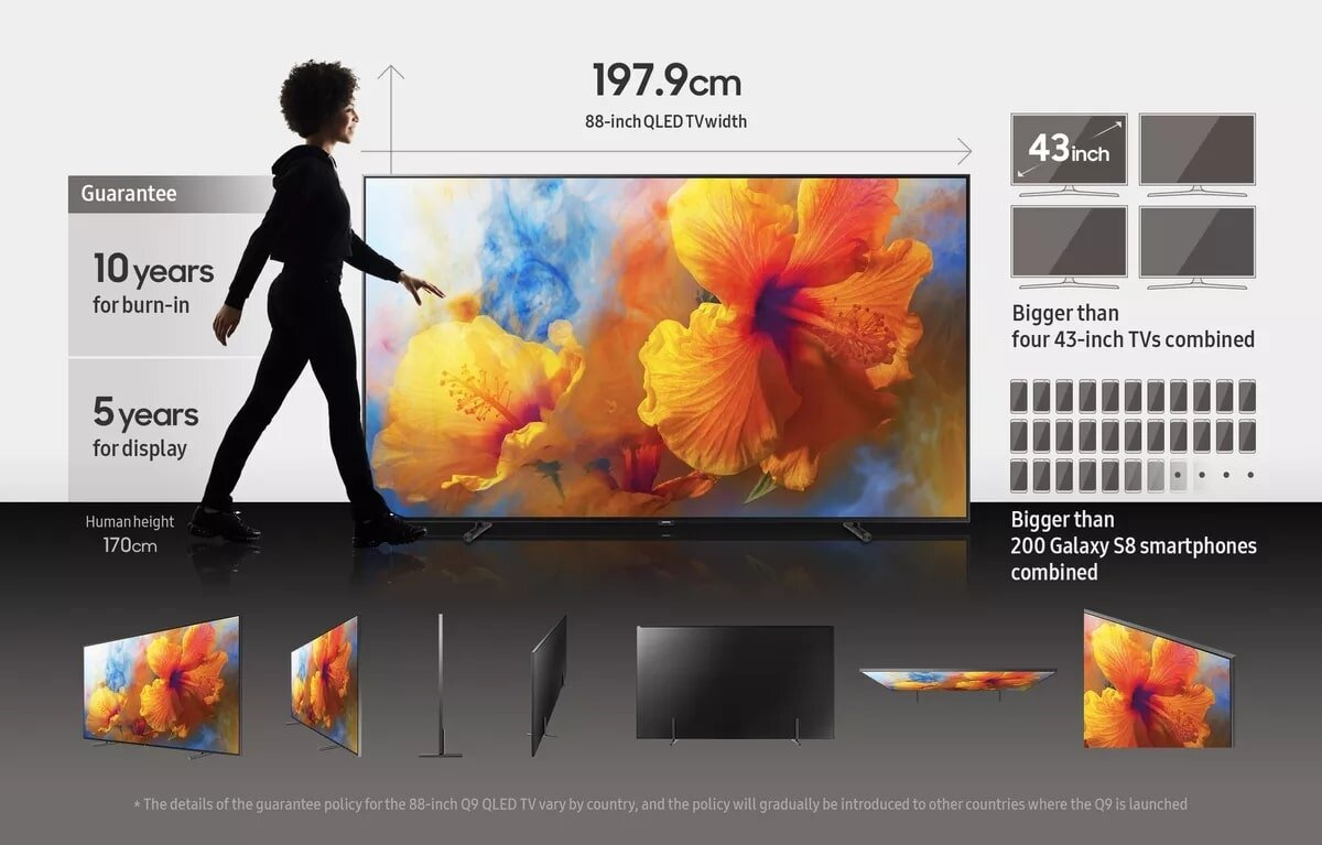 Tivi Samsung Q9 thiết kế tinh tế, sang trọng trên từng đường nét
