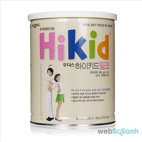 Sữa bột Hikid Hàn Quốc giúp bé tăng chiều cao