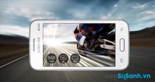 Galaxy V Plus có bộ vi xử lý lõi kép xung nhịp 1.2GHz cùng bộ nhớ RAM 512MB