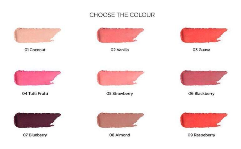 bảng màu son dưỡng Kiko Coloured Balm