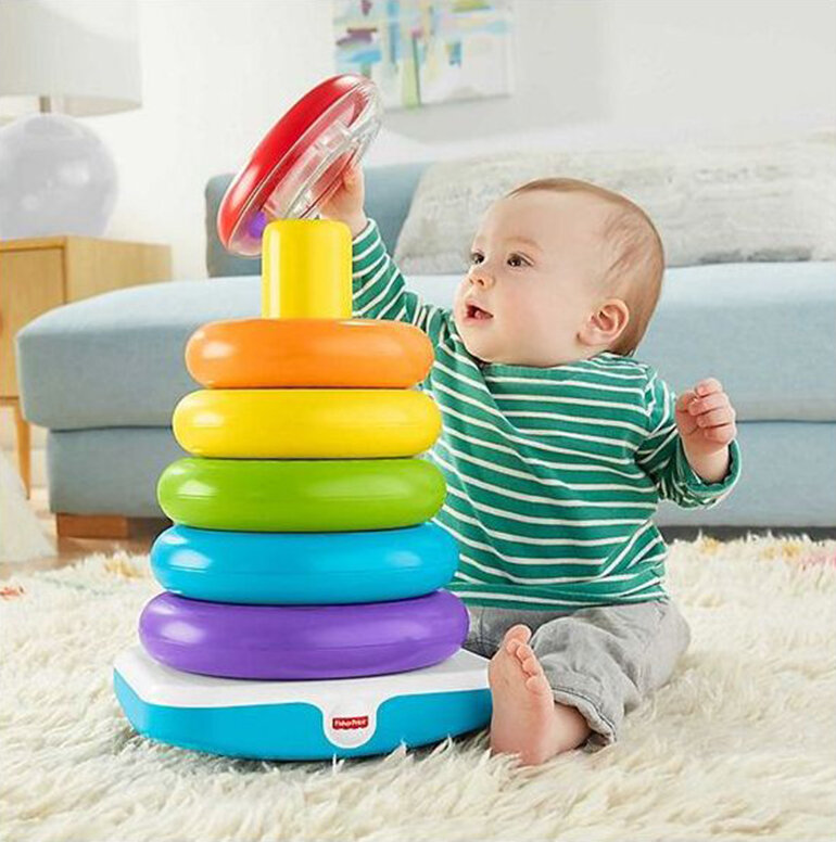 Bộ đồ chơi xây tháp nhiều màu sắc