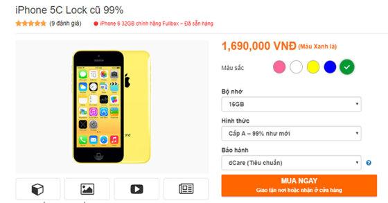 """iPhone 5C giá 1 TRIỆU ĐỒNG đang gây """"sốt"""" thị trường: có nên mua không?"""