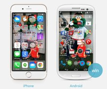 """iPhone vs Android """"ai"""" tốt hơn?"""