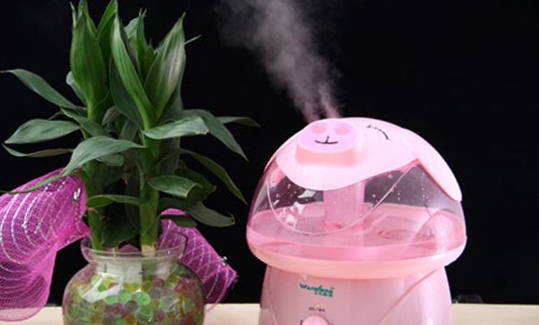 Máy phun sương tạo ẩm giúp banj không còn bị khô da khi sử dụng quạt sưởi