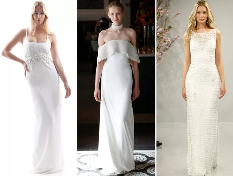 Váy cưới đính ngọc trai mang lại vẻ sang trọng và trang nhã