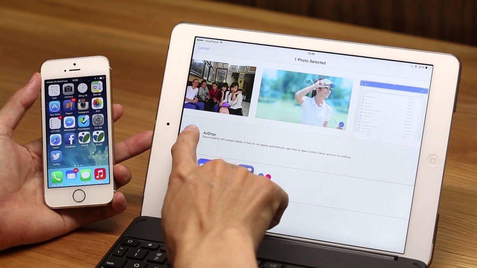 Chia sẻ hình ảnh, video dễ dàng từ tính năng Airdrop của Apple trên iPad