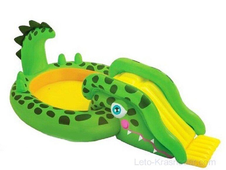 Phao bơi cầu trượt khủng long Intex 57132