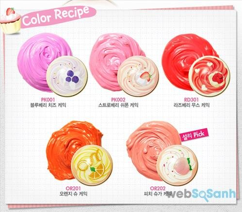 Kem má hồng Etude House Sweet Recipe Cupcake All Over Color