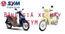 Bảng giá xe máy SYM rẻ nhất hiện nay tháng 1/2018