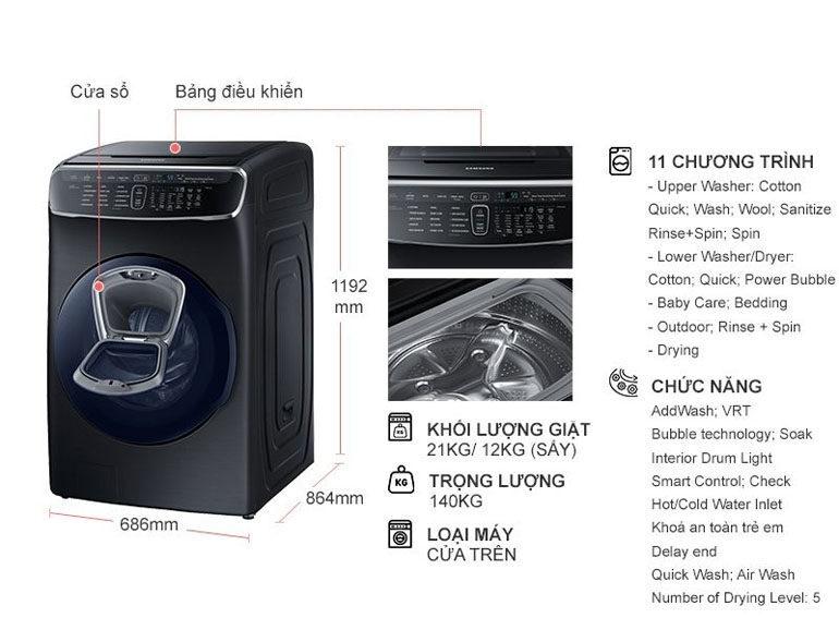 máy giặt samsung flexwash