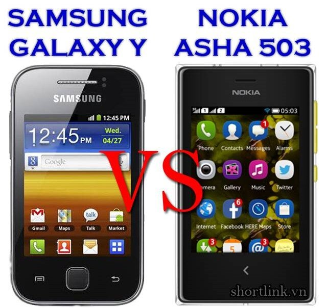 Galaxy Y Vs Asha 503