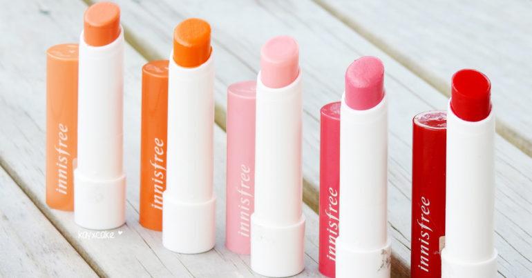 Review son dưỡng innisfree glow tint lip balm - Lành tính, lên màu tự nhiên, dưỡng ẩm tốt, giá hạt dẻ