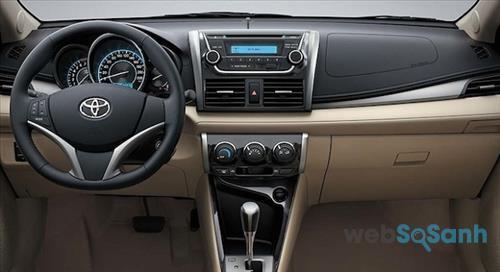 Trang bị trên bảng điều khiển của Toyota Vios 2016
