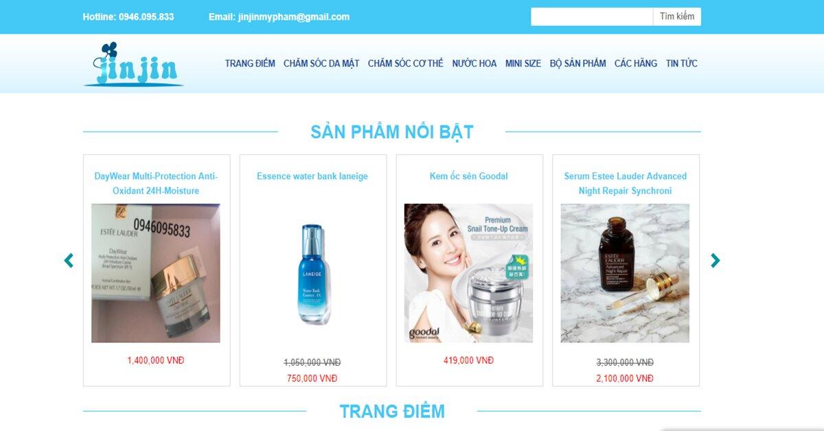 Jinjinmypham.com – Địa chỉ mua mỹ phẩm uy tín từ các thương hiệu mỹ phẩm nổi tiếng nhất